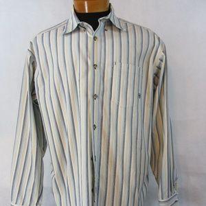 Ariat Mens Striped Long Sleeve Button Down Shirt